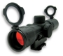 NcSTAR Rubber Armored 4x30 Scope w/ illuminated Sniper Reticle -Quick Release Handle Mount