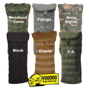 VooDoo Tactical Hydration Bladder Carrier Pack w/ Removable Straps