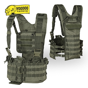 VooDoo Tactical Molle Chest Rig Hydration Bladder compatible