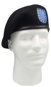 INSPECTION READY BLACK BERET W/FLASH