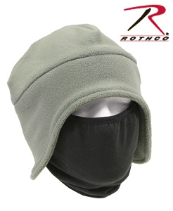 Convertible Fleece Cap with Polyester Face Mask