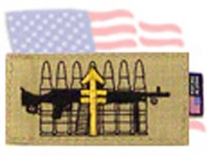 Symbology Identifier Patch Medium Machine Gunner